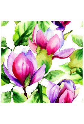 Arte Pembe Çiçek Kanvas Tablo