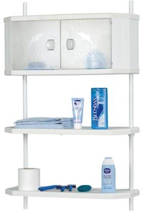 Doğuş Banyo Doğuş Pololü x Banyo Dolap Ve Raf Sistemi-Şeffaf