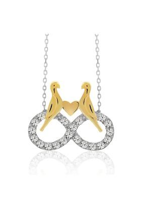 Chavin Sonsuzluk Üzerinde Altın Kaplama Kuş Gümüş Kolye ce07