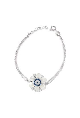 Chavin Sedefli Çiçek Nazar Gümüş Kadın Bileklik cs82