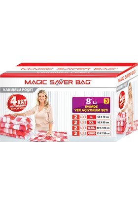 "Magic Saver Bag 8 li ""Evimde Yer Açıyorum"" Seti - 3 lü"