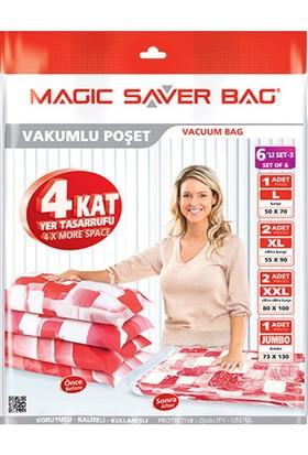 """Magic Saver Bag 6 Lı """"Odamda Kendime Yer Açıyorum"""" Seti - 3"""