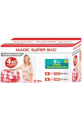 """Magic Saver Bag 8 Li """"Evimde Yer Açıyorum"""" Seti - 2"""