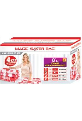 """Magic Saver Bag 8 Li """"Evimde Yer Açıyorum"""" Seti - 3"""