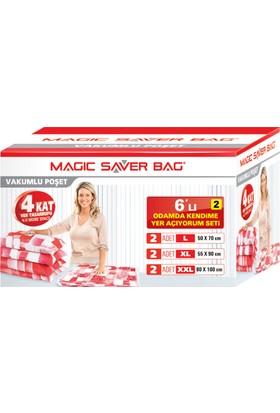 """Magic Saver Bag 6 lı """"Odamda Kendime Yer Açıyorum"""" Seti - 2 li"""