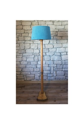 Lambada Torna Bacaklı Lambader Naturel Renk Ayak-Turkuaz Başlık K108