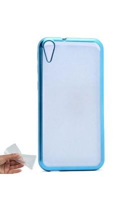 Teleplus HTC Desire 830 Lazer Kesimli Silikon Kılıf Mavi