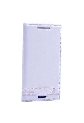 Teleplus HTC Desire 830 Mıknatıslı Lux Kapaklı Kılıf Beyaz