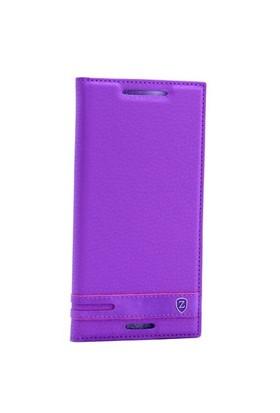Teleplus HTC Desire 830 Mıknatıslı Lux Kapaklı Kılıf Mor