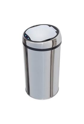 Hiper Sensörlü Çöp Kovası 12 Lt Krom