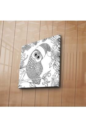 Özgül Grup Baykuş Boyama Tablosu 12 'Li Keçeli Kalem Hediye -60