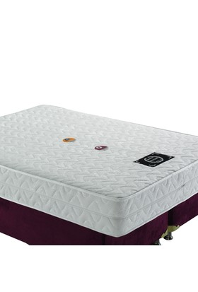Mopa Teks Masaj Terapi Fermuarlı Ultra Full Visco Yatak - 150 X 200 - Beyaz