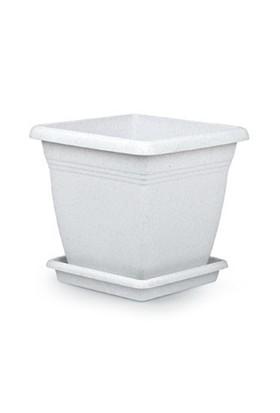 Mini Garden Villa Kare Saksı Takım 32 LT Beyaz