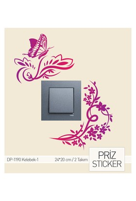 ARTİKEL Kelebekler-1 Priz Sticker DP-1190
