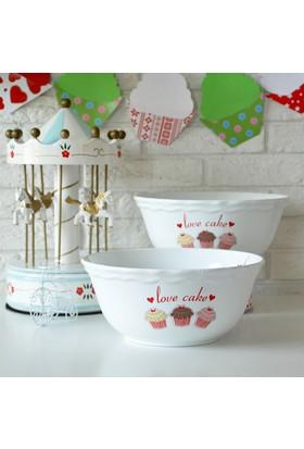 Keramika 25 cm Kase Juliet Beyaz Fruit Cake