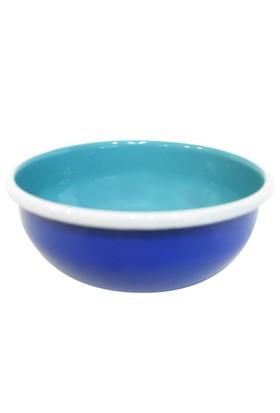LunArt Emaye Renkli Kase 16 cm Mavi