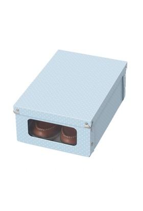 Deepot Bot Saklama Kutusu Köşeleri Metal Korumalıpvc Pencereli 8 Çıtçıtlı