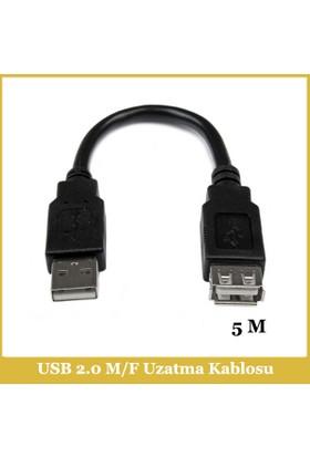 Ti-mesh USB 2.0 A M / USB A F Kablo - 5M