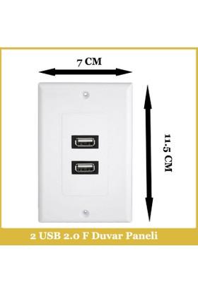 Ti-mesh USB2.0 2*A Female 70MM*115MM