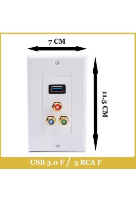 Ti-mesh USB3.0 1*AFemale +3*RCA Female 70MM*115MM
