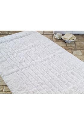 Confetti Confetti Cotton Strıpe Beyaz Banyo Halısı | 70 x 120 cm