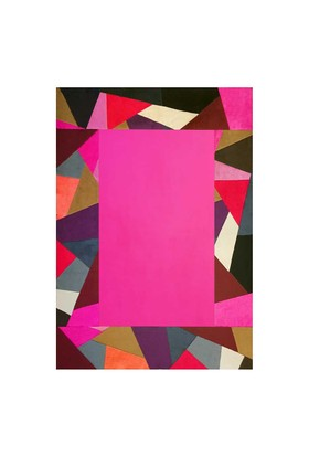 Tappeto Pony Prizma Halı - Multi Fuşya - 120x180 cm