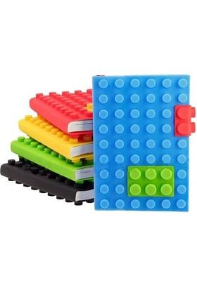 BuldumBuldum Blocks Note Pad - Lego Not Defteri - Turuncu