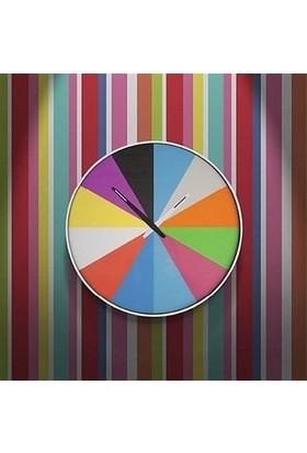 BuldumBuldum Ultra Flat Wall Clock - İsveç Duvar Saati - Beyaz