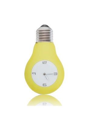 BuldumBuldum Bulb Glass Wall Clock - Ampul Şeklinde Cam Duvar Saati - Pembe