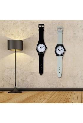 BuldumBuldum Watch Wall Clock - Kol Saati Şeklinde Duvar Saati - Beyaz