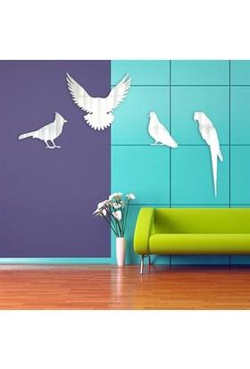 BuldumBuldum Kuş Aynalar - Papağan 21X44 Cm