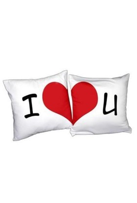 BuldumBuldum I Love You 2'Li Aşk Yastığı Seti - Kare Yastık