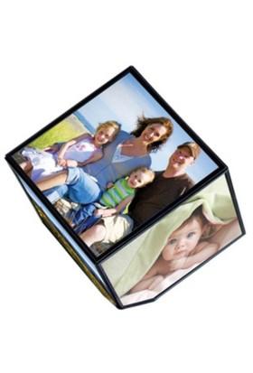 BuldumBuldum Rotating Photo Cube - Dönen Küp Resim Çerçevesi