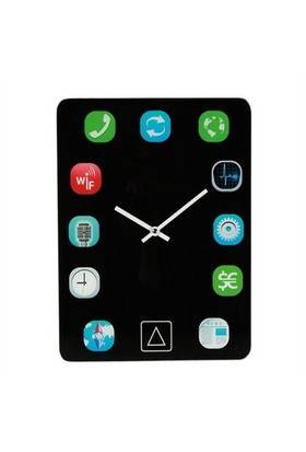 BuldumBuldum Pad Glass Wall Clock - Tablet Cam Duvar Saati