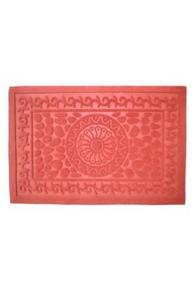 Giz Home Betty Kırmızı Desenli Paspas - 40x75 cm