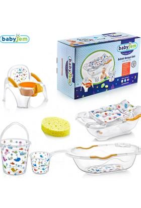 Babyjem Bebe Lüks 6 Parça Banyo Seti - Beyaz