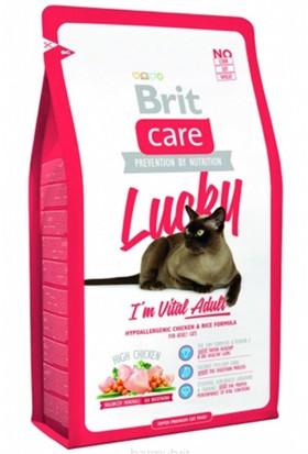 Brit Care Cat Lucky Tavuklu Ve Pirinçli Yetişkin Kedi Maması 7 Kg