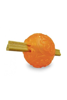 Nobby Thermoplastik Kaucuk Köpek Ödül Topu 7 cm (Turuncu)