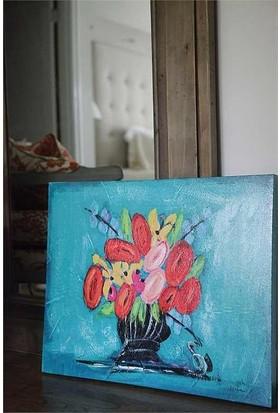 Evlina Home Çiçekli Canvas Duvar Panosu