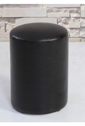 Remaks Siyah Yuvarlak Puf