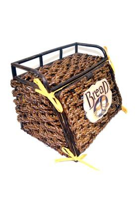 Cosiness Hasır Ekmek Sepeti (Koyu Kahve)