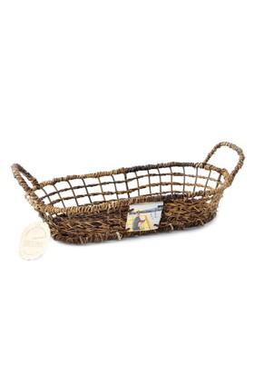 Kanca Ev Oval Yayvan Ekmek Meyve Sepeti Küçük