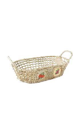 Kanca Ev Natürel Oval Yayvan Ekmek Meyve Sepeti Meyve Büyük
