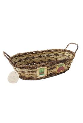 Kanca Ev Oval Yayvan Ekmek Sebze Büyük