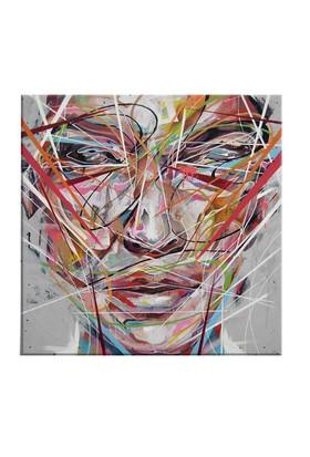 Arte Arte Çizim Yüz Kanvas Tablo 30x30 cm