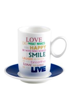 Biev Smile 6 Kişilik Kahve Seti