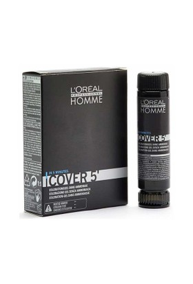 Loreal Homme Cover 5 Erkekler İçin Amonyaksiz Renklendirici Jel 3X50ml Koyu Kumral 6
