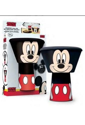 Mickey Mouse 3'lü Beslenme Seti - Plastik