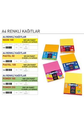 Gıpta A4 Renkli Kağıt POWER 100 100'lük Paket (10 Renk x 10 Yaprak) 1506