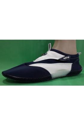 Sport Cırtlı Deniz Ayakkabısı ( Lacivert - Beyaz )